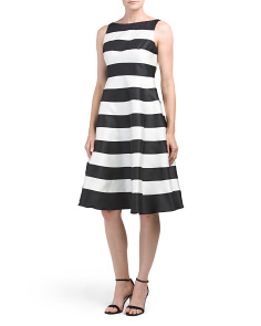 Striped Midi Party Dress