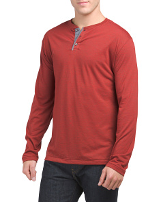 Long Sleeve 3-button Henley Shirt