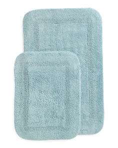Made In India 2pk Chalet Bath Rugs