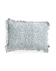 Made In India 14x20 Chapori Fringe Pillow