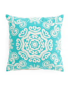 Made In India 20x20 Crewel Stitch Pillow