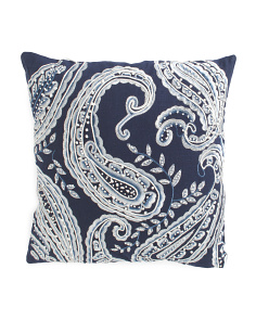 20x20 French Knot Paisley Pillow