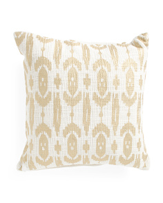 Made In India 20x20 Gold Foil Pillow