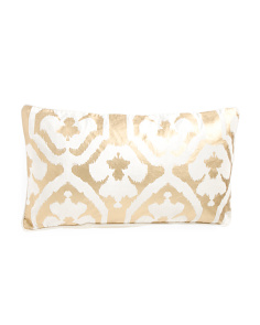 14x26 Gold Foil Velvet Pillow