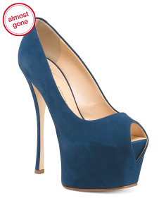 Made In Italy Suede Platform Heels