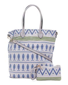 2pc Novelty Printed Tote