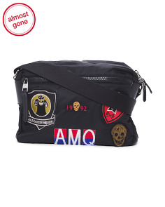 Made In Italy Multicolor Patch Nylon Camera Bag