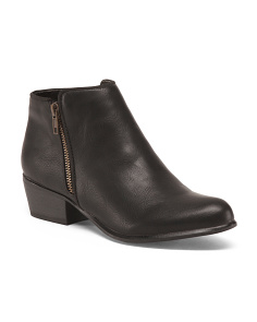 Low Booties With Side Zip Closure