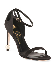 Made In Italy Satin Evening Heels