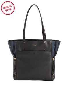 Two Tone Leather Tote