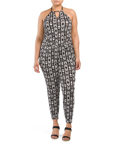 Plus Juniors Halter Jumpsuit