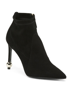 Made In Italy Suede Pointed Toe Booties