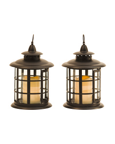 Set Of 2 Round Lanterns