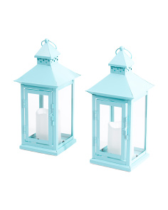 Set Of 2 Single Pane Lanterns