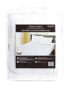 Quilted Memory Foam Mattress Pad