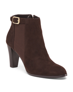 Heeled Suede Ankle Booties