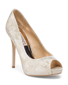 Brocade Peep Toe Evening Shoes