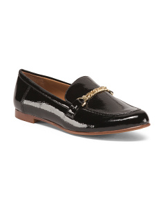 Faux Patent Loafers