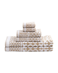 Made In India 6pc Arabesque Towel Set