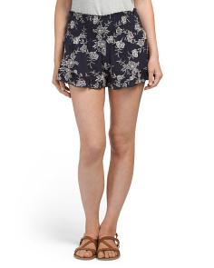 Juniors Made In USA Ruffle Shorts