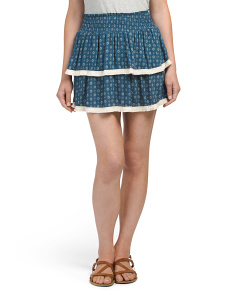Juniors Fringed Ruffle Skirt