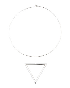 Handmade In India Sterling Silver Triangle Collar Necklace