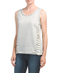 Juniors Made In USA French Terry Tank