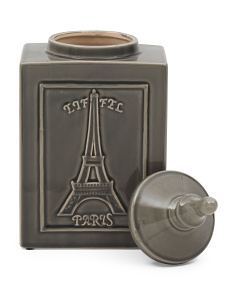 Eiffel Tower Ceramic Jar