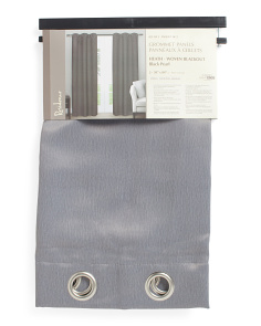Set Of 2 38x84 Solid Blackout Curtains