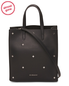 Made In Italy Small Stargate Leather Tote