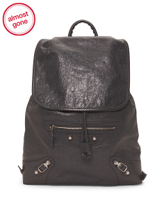 Made In Italy Giant Lambskin Traveler Backpack