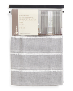 38x84 Set Of 2 Textured Sheer Curtains