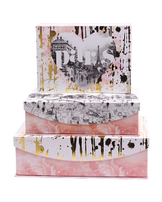 Set Of 3 Modern Paris Storage Boxes