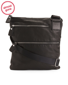 Double Zip Leather Crossbody