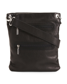 Double Zip Leather Bag
