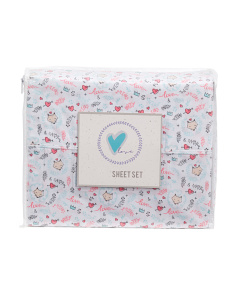 Kids Fox Heart Sheet Set