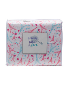 Kids Paris Love Sheet Set