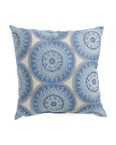 18x18 Medallion Patterned Pillow