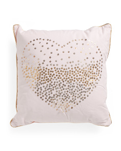 Kids Made In India 20x20 Ombre Heart Pillow