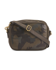 Camo Zoey Leather Camera Bag