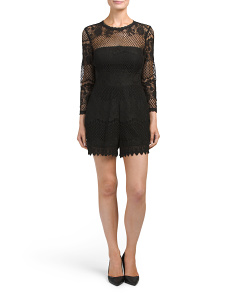 Three Quarter Sleeve Lace Romper