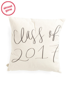 Made In USA 18x18 Class Of 2017 Pillow