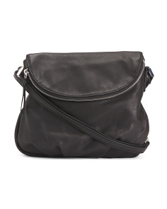 Natalie Leather Flap Crossbody
