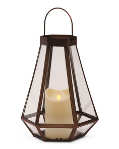 15in Lantern With Led Candle