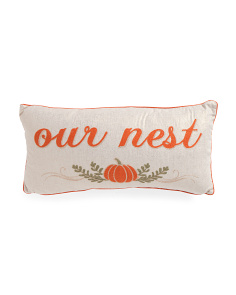 12x24 Our Nest Metallic Pillow