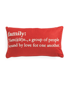 14x26 Family Definition Pillow