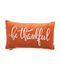14x26 Velvet Be Thankful Pillow