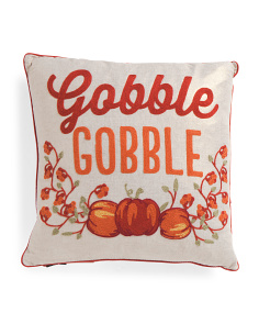 20x20 Embroidered Gobble Pillow