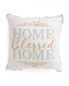 20x20 Embroidered Home Pillow