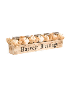 Harvest Blessings Candle Holder